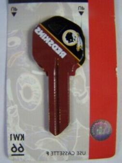 Washington Redskins Kwikset KW1 key blank