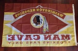 Washington Redskins Man Cave 3x5 Flag. US seller. Free shipp