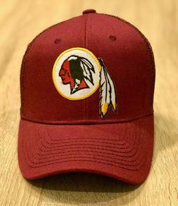 Washington Redskins Maroon baseball Hat Patch Style Mesh Cap