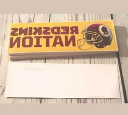 lot of 3 Washington Redskins Nation Bumper Stickers Decals N