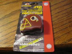 Washington Redskins NFL 3' Team Helmet Measuring Tape Key Ch