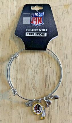 Washington Redskins NFL Charm Bangle Logo Bracelet Jewelry S
