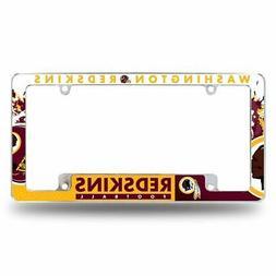 Washington Redskins NFL Chrome Metal License Plate Frame wit