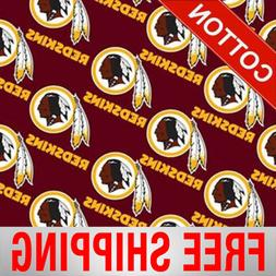 "Washington Redskins NFL Cotton Fabric - 60"" Wide - Style# 35"