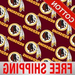 "Washington Redskins NFL Cotton Fabric - 60"" Wide - Style# 35"