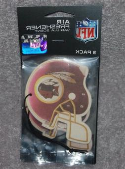 WASHINGTON REDSKINS NFL FOOTBALL 3-PACK AIR FRESHENER VANILL