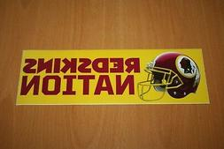 "Washington Redskins - NFL Football - Bumper Sticker - 9.00"""