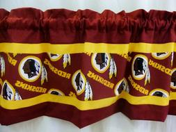 Washington Redskins NFL Football Gold Valance Curtain Choose