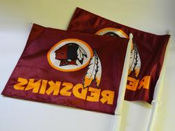 Washington Redskins NFL Football Set of 2 Car Window Flags