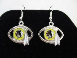 Washington Redskins NFL Football Team Dangle Earrings - Silv