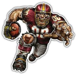 Washington Redskins NFL Mascot Car Bumper Sticker Decal- 3''