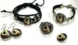Washington Redskins NFL Snap Jewelry snap, stretch Ring, Ear