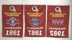 Washington Redskins NFL Super Bowl Champions 3 Banners/Flags