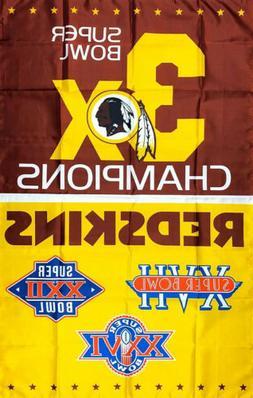 Washington Redskins NFL Super Bowl Championship Flag 3x5 ft