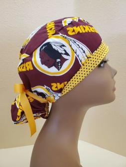Washington Redskins NFL Women's Ponytail Surgical Scrub Hat/