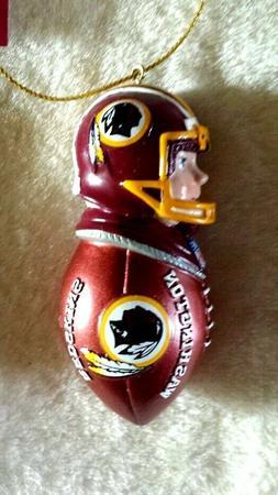 WASHINGTON REDSKINS Ornament Football Tackler Figure Christm