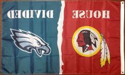 Washington Redskins Philadelphia Eagles House Divided 3'x5'
