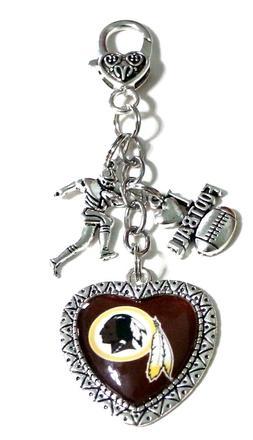 Washington Redskins HANDMADE Purse Charm