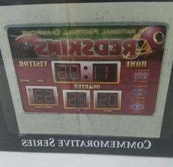 Washington Redskins  Scoreboard Desktop Clock alarm clock
