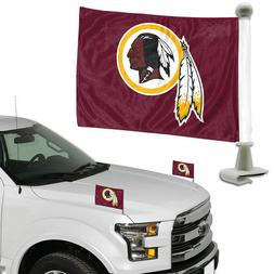 Washington Redskins Set of 2 Ambassador Style Car Flags - Tr
