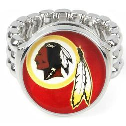 Washington Redskins Silver Mens Womens Football Ring Fits Al