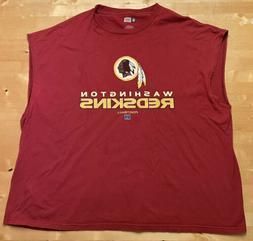 NFL Team Apparel Washington Redskins Sleeveless Muscle Shirt