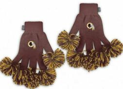 Washington Redskins Spirit Fingerz Pom Pom Gloves Team Knit