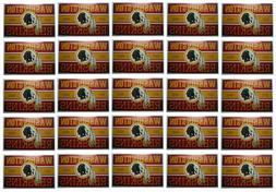 Washington Redskins Stickers Set of 25 Vintage Banner Design