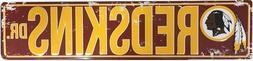"WASHINGTON REDSKINS STREET METAL 24X5.5"" SIGN DRIVE NFL DR R"