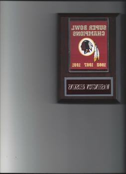 WASHINGTON REDSKINS SUPER BOWL BANNER PLAQUE FOOTBALL NFL