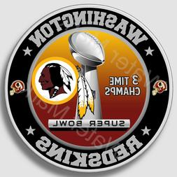 Washington Redskins Super Bowl Championship Sticker, NFL Dec