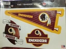 Washington Redskins Team Magnet Set 3 Piece NFL Football 11x