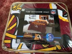 NFL Washington Redskins Twin Comforter Bedding Set NEW By No
