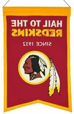 Washington Redskins Wool Franchise Banner  NFL Man Cave Sign