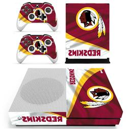 XBOX ONE S - Washington Redskins - Vinyl Skin + 2 Controller