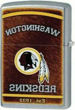 Zippo Street Chrome Lighter With Washington Redskins Logo, 2